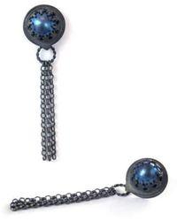 Sian Bostwick Jewellery - Nautilus Drop Earrings - Lyst