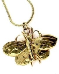 Will Bishop - Gold Large Butterfly Necklace - Lyst
