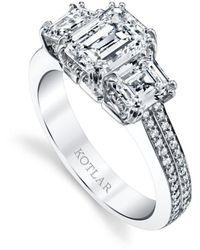 Harry Kotlar - Emerald Cut Harmonie Ring - Lyst