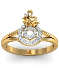 Diamoire Jewels - 18kt Yellow Gold Pave 0.24ct Diamond Infinity Ring - Lyst