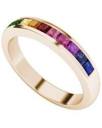 StyleRocks - Rainbow Ring In 9kt Rose Gold - Lyst