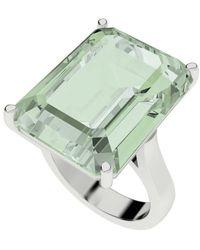 StyleRocks - Green Amethyst Emerald Cut Sterling Silver Cocktail Ring - Lyst