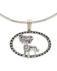 Donna Pizarro Designs | Sterling Chinese Crested Necklace With 14kt Accent | Lyst