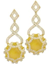 Chavin Couture | 18kt Yellow Gold Earrings With Calcite | Lyst