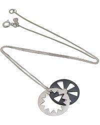 Vicky Davies - Oxidised Sterling Silver Sunburst Pendant Necklace - Lyst