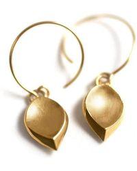 ileava jewelry - Gold Hanna Hanging Petal Earrings | - Lyst