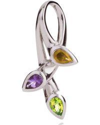 MANJA Jewellery - Kazo Peridot, Citrine & Amethyst Pendant - Lyst