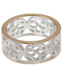 Mara Hotung - Faith Ring Silver With Yellow Gold Edge - Lyst