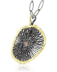 Apostolos Jewellery - Black Star Oxidised Silver Pendant - Lyst
