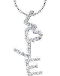 Diamoire Jewels Streamlet Diamond Pendant in 18kt Rose Gold 6rCxSKeP
