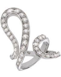 Dada Arrigoni Jewelry - White Gold Ivy Pave Ring - Lyst