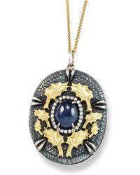 Katherine LeGrand Custom Goldsmith - Oak Cast Sapphire Pendant - Lyst