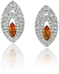 Niquesa Fine Jewellery - Amore Gemma Orange Sapphire Earstuds - Lyst
