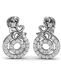 Diamoire Jewels Flourish Diamond Stud Earrings in 18kt White Gold KaF7Jan