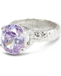 Paul Magen - Sterling Silver & Lilac Alveus Ring | - Lyst