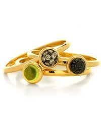 Syna - Set Of Three Mini Baubles Rings - Lyst