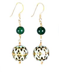 M's Gems by Mamta Valrani - Panache Hook Earrings With Green Jade - Lyst