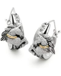 Deni Jewelry - Megamendung Cloud Hoop Earrings In Horse Collection - Lyst