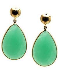 Trésor - 18kt Yellow Gold Earrings With Chrysopharse - Lyst