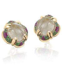 Niquesa Fine Jewellery - Venice Scaramuccia Golden Rutile Quartz Earrings - Lyst