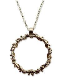 Zalisander - Small 9kt Gold Circle Pendant - Lyst