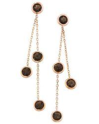 London Road Jewellery - Pimlico Rose Gold Smoky Quartz Drop Raindrop Earrings - Lyst