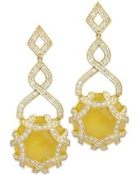 Chavin Couture - 18kt Yellow Gold Earrings With Calcite - Lyst