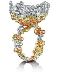 Goldneilson - Coalescence 9kt Diamond Tri Cocktail Ring - Lyst