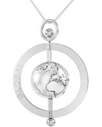 GlobalSoul Jewellery - Sterling Silver Peace Spinning Globe Pendant - 50mm - Lyst