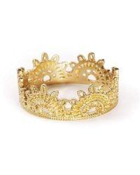 Black Betty Design - Gold Crown Ring - Lyst