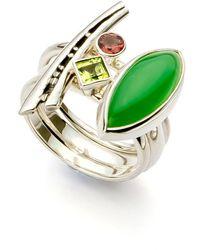 John S Roberts Artist-Jeweller - Glade Seeds Ii Stacker Ring - Lyst