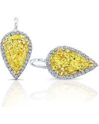 Harry Kotlar - Fancy Yellow Pear Shape Sunny Drop Earrings - Lyst