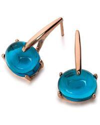 Maviada - Sardinia Long Vermeil Rose Gold Earrings - Lyst