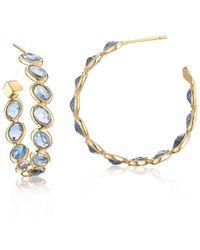 Paolo Costagli New York - Blue Sapphire Ombre Hoop Earrings, Medium - Lyst