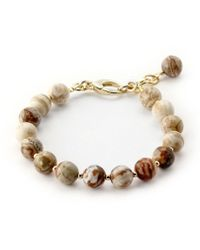 Elisa Ilana Jewelry - Yellow Gold & Agate Lollies Bracelet | - Lyst