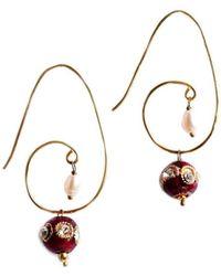M's Gems by Mamta Valrani - Red Rhapsody Hoop Earrings - Lyst