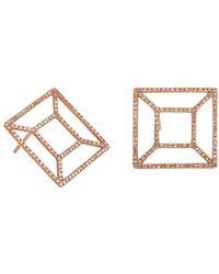 Bridget King Jewelry - Diamond Rose Windowpane Earrings - Lyst