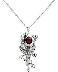 Yen Jewellery - Molecule Ruby Drop Necklace - Lyst