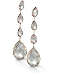 BCOUTURE - White Topaz Four Drop Earrings - Lyst