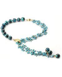 Elisa Ilana Jewelry - Yellow Gold, Chrysocolla & Turquoise Necklace | - Lyst