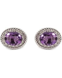 Vintouch Italy - Luccichio Amethyst Stud Earrings - Lyst