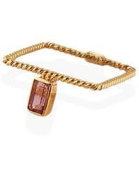 Christina Soubli - Square Ring Band With Pink Tourmaline - Lyst