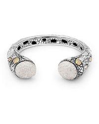 Deni Jewelry - Crocodile Skin Kick Cuff Bracelet - Lyst