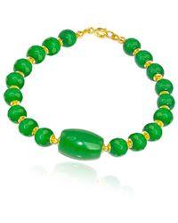 Regenz - Gold Imperial Jade Bracelet - Lyst