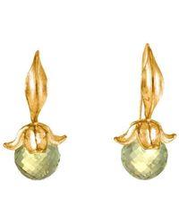 Militza Ortiz - Lemon Quartz Flower Earring - Lyst
