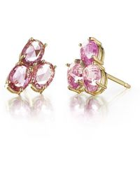 Paolo Costagli New York - Pink Sapphire Ombre Stud Earrings - Lyst