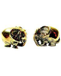 Beryl Dingemans Jewellery - Gold Fat Elephant Stud Earrings - Lyst