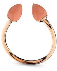 MARCELLO RICCIO - Rose Gold & Coral Ring - Lyst
