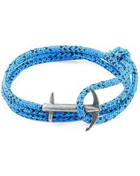 Anchor & Crew - Blue Noir Admiral Silver And Rope Bracelet - Lyst