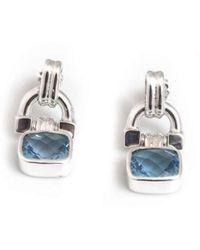 Hiho Silver - Sterling Silver & Blue Topaz Blue Topaz Earrings - Lyst